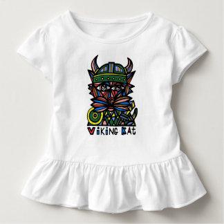 """""""Viking Kat"""" Toddler Ruffle Tee"""