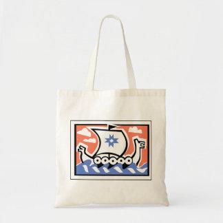 Viking Longboat Canvas Bags