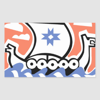 Viking Longboat Rectangular Sticker