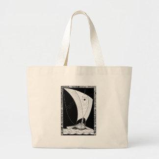 Viking longship sailboat jumbo tote bag