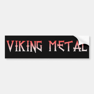 Viking Metal Bumper Sticker