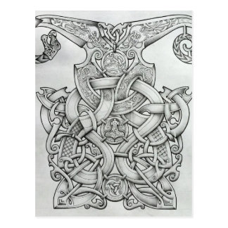 VIKING & OSEBERG KNOTWORK DESIGN POSTCARD