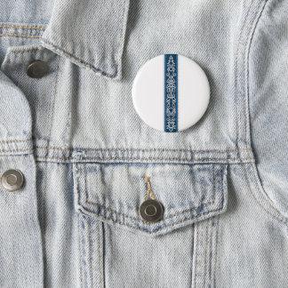 Viking Pattern Blue 6 Cm Round Badge
