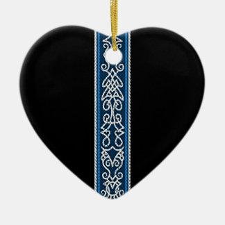 Viking Pattern Blue Christmas Ornament