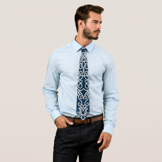 Viking Pattern Blue Tie