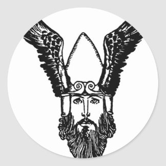 viking-pictures-10 classic round sticker
