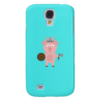 Viking Pig with helmet Q1Q Galaxy S4 Case