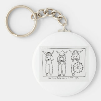 Viking Poodle Key Ring