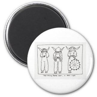 Viking Poodle Magnet