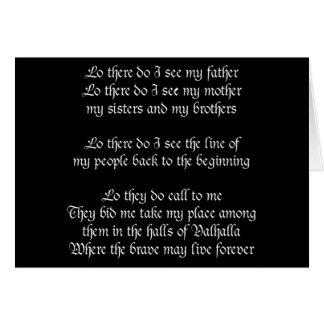 Viking Prayer Black Greeting Card