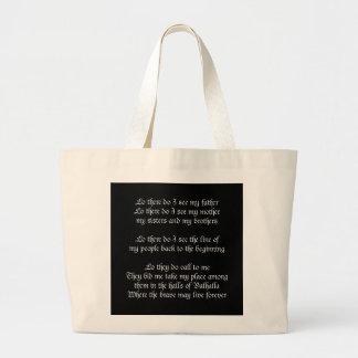 Viking Prayer Black Jumbo Tote Bag
