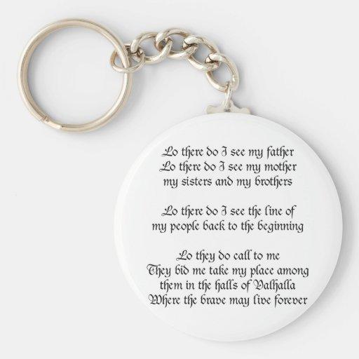 Viking Prayer Keychain
