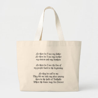 Viking Prayer Large Tote Bag