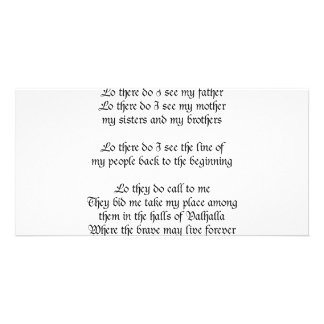 Viking Prayer Lo There Do I See My Father Photo Greeting Card