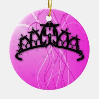 Viking Princess Crown- pink Christmas Ornament