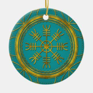 Viking protection runes helm of awe talisman christmas ornament