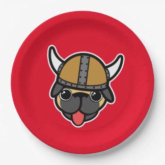 Viking Pug 9 Inch Paper Plate