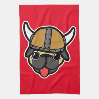 Viking Pug Hand Towels