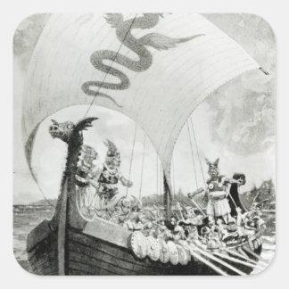 Viking Raiders Square Sticker