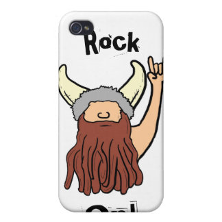 Viking rock on humor iphone case iPhone 4/4S cases