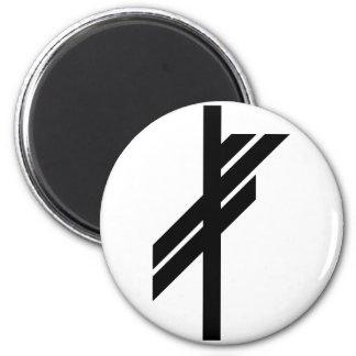 Viking Rune - Luck - black Magnet