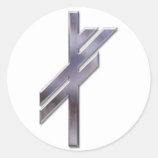 Viking Rune-luck-silver Round Sticker