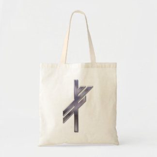 Viking Rune-luck-silver Budget Tote Bag