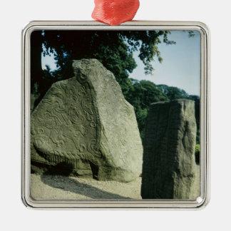 Viking rune stones christmas ornament