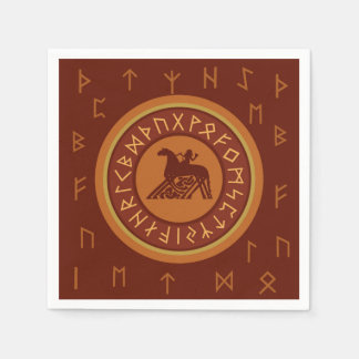 Viking Runes Disposable Napkin