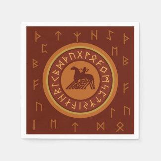 Viking Runes Paper Napkin