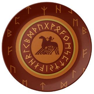 Viking Runes Plate
