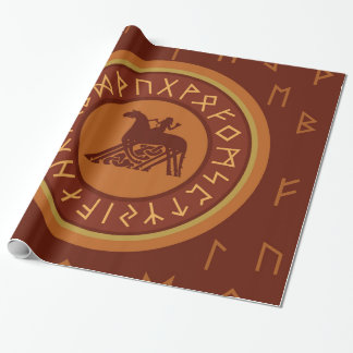 Viking Runes Wrapping Paper