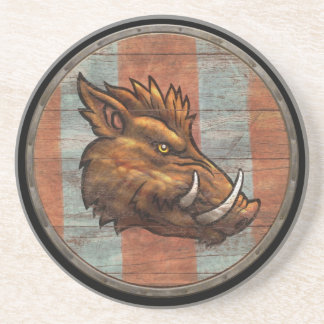 Viking Shield - Boar Beverage Coasters