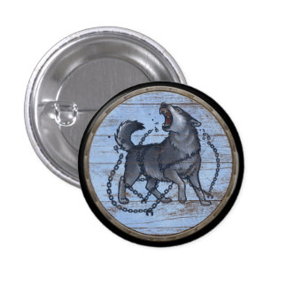 Viking Shield Button - Fenrir