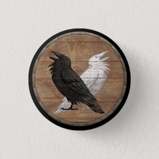 Viking Shield Button - Odin's Ravens