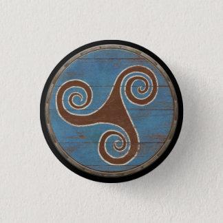 Viking Shield Emblem - Triskele 3 Cm Round Badge