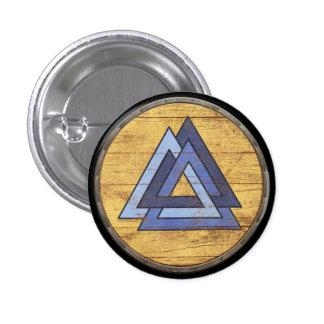 Viking Shield Emblem - Valknut 3 Cm Round Badge