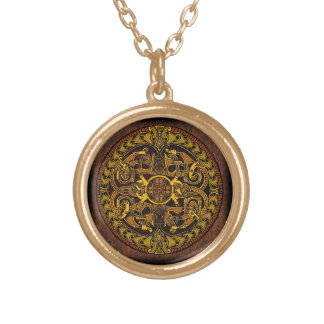 Viking Shield Gold Plated Necklace