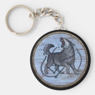 Viking Shield Keychain - Fenrir