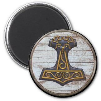 Viking Shield Magnet - Mjolnir