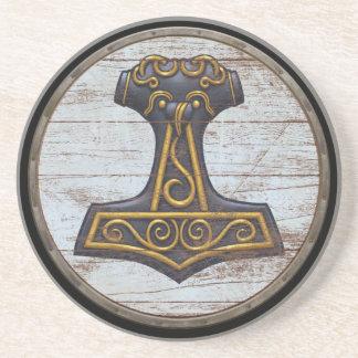 Viking Shield - Mjolnir Drink Coaster