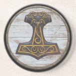 Viking Shield - Mjolnir Drink Coasters