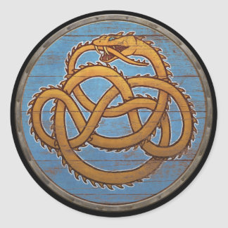 Viking Shield Sticker - Jörmungandr