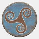 Viking Shield Sticker - Triskele