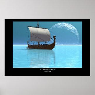 VIKING SHIP 2 PRINT