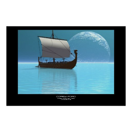 VIKING SHIP 2 PRINT