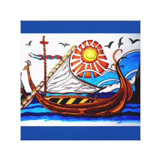 VIKING SHIP 3 CANVAS PRINT
