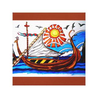 VIKING SHIP 4 CANVAS PRINT