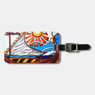 VIKING SHIP 5 LUGGAGE TAG