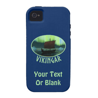 Viking Ship And Northern Lights Case-Mate iPhone 4 Covers